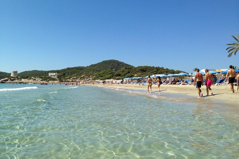 Kết quả hình ảnh cho Playa d'en Bossa beach Ibiza